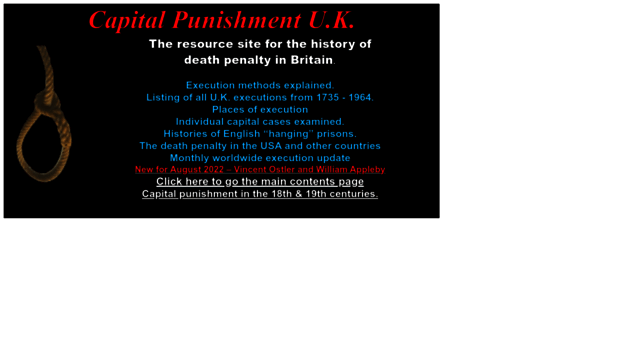 capital punishment in the uk