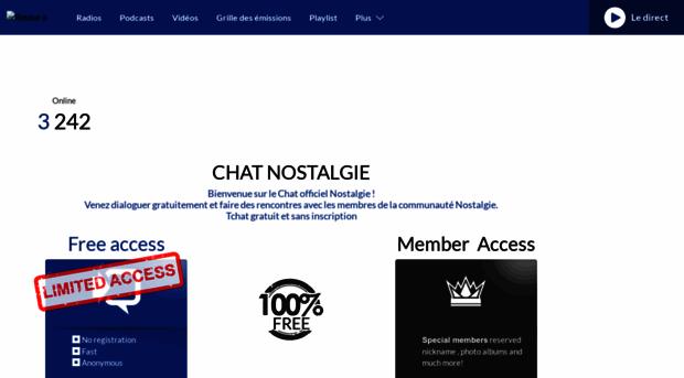 chat nostalgie gratuit)