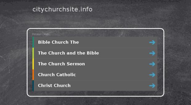 citychurchsite.info