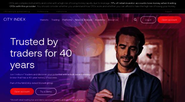 City index online trading platform for forex cfds