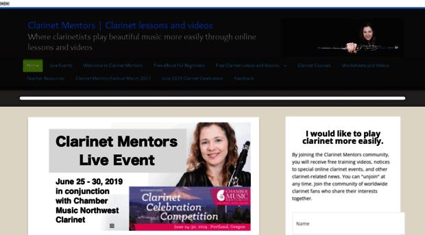 clarinetmentors.com