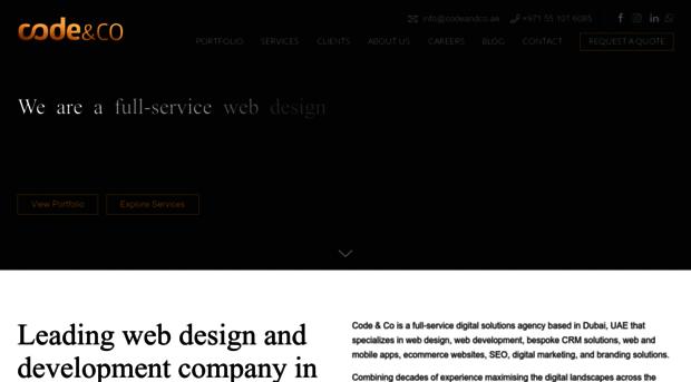 Codeandco Ae Web Design Dubai Agency Web Codeandco