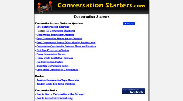 Random conversation questions