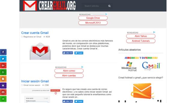Cuenta gmail crear Google Cuenta