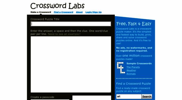 crosswordlabs.com - Free, Online Crossword Puzzle ... - Crossword Labs