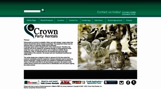 crownpartyrentals.com