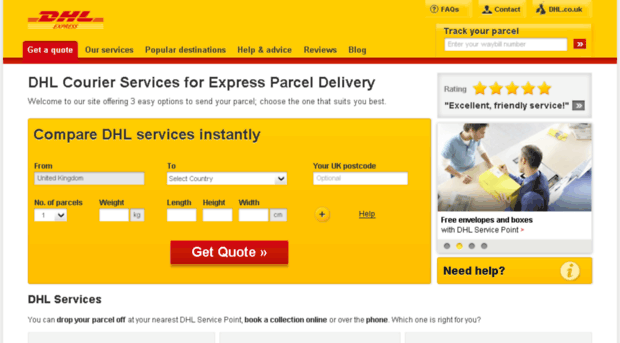 dhl express service Comprehensive source of information about dhl iran here you'll find office addresses, shipping guidelines and restrictions, drop-off and collection points for dhl express shipments, key local facts and more.