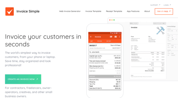 Doc Getinvoicesimple Com Invoice Online Or On The Go Doc