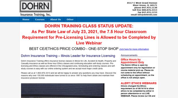 Dohrnit Com Illinois Insurance License Cou Dohrn It