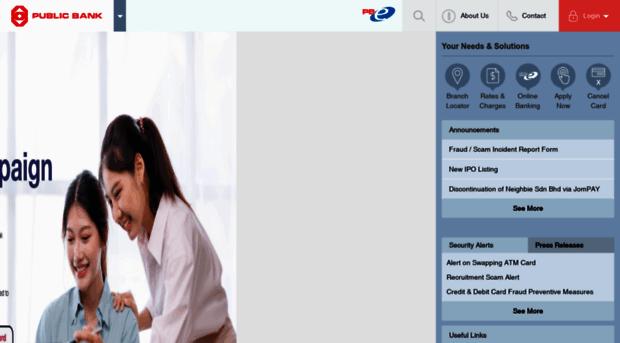 Cara Daftar Public Bank Online Register Di Pbebank Com