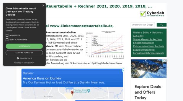 einkommenssteuertabelle.de - Einkommensteuertabelle 2020 ...