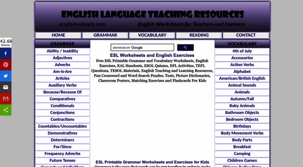 englishwsheets.com