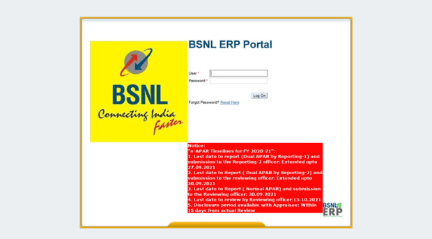Image result for bsnl erp portal