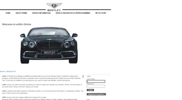 Erwin Online Bentley Motors
