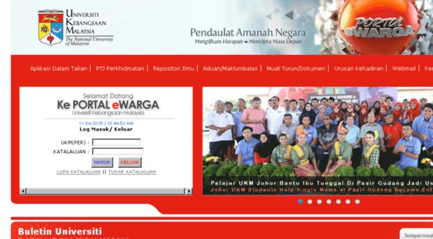 Ewarga2 Ukm My Portal Ewarga Universiti Keban Ewarga 2 Ukm