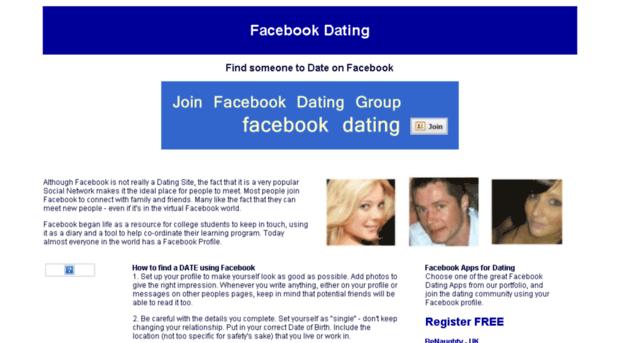 Знакомство фейсбуке