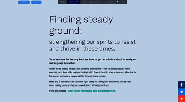 findingsteadyground.com