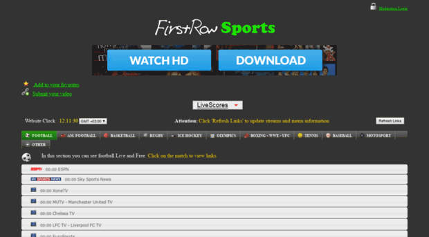 free live sports streams on your pc