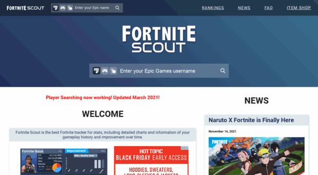 fortnitescout com - Stats Tracker for Fortnite BR     - Fortnite Scout