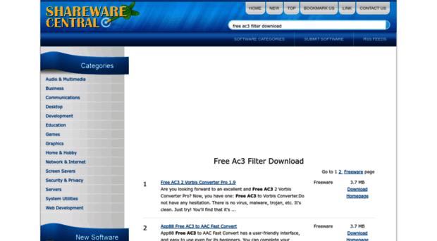 free-ac3-filter-download.sharewarecentral.com