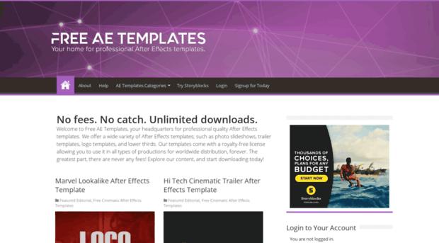Freeaetemplates Com Hundreds Of Free Ae Templates Free Ae