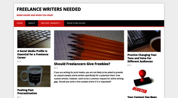 Freelance writers needed услуги фрилансер ростов на дону