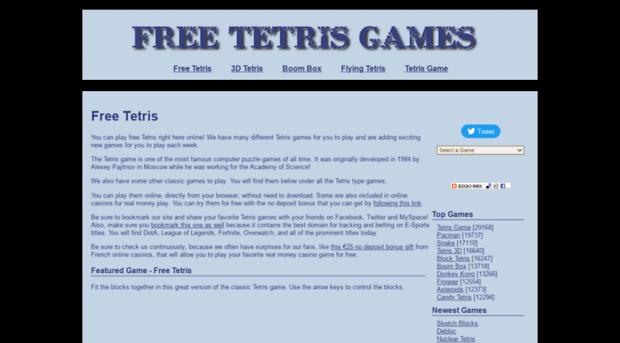Freetetrisgames Biz Free Tetris Game Play Tetris Free Tetris Games