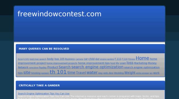 freewindowcontest.com