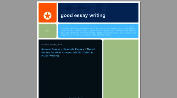 good essay websites