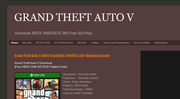 gta v xbox one digital code free