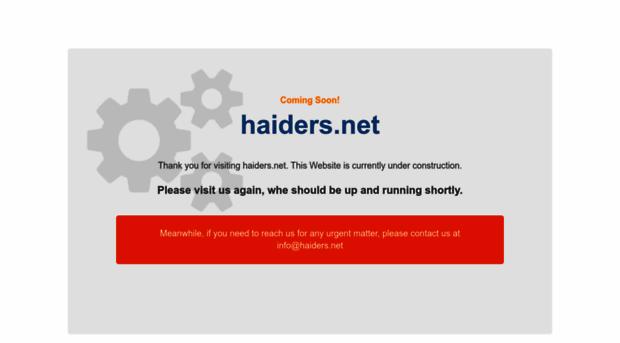 haiders.net
