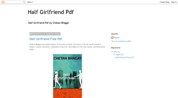 Half Girlfriend By Chetan Bhagat Pdf Free