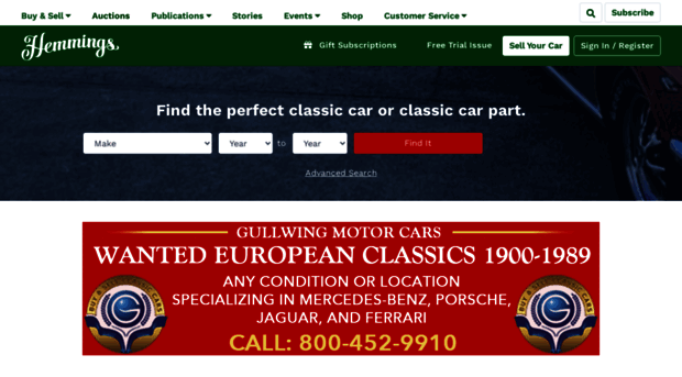 Classic cars and parts for sal hemmings for Hemmings motor news classified ads