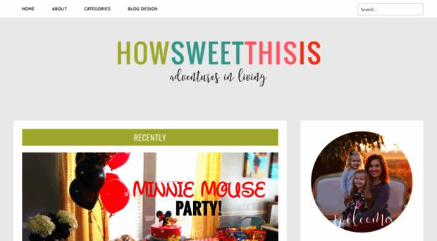 howsweetthisisblog.com