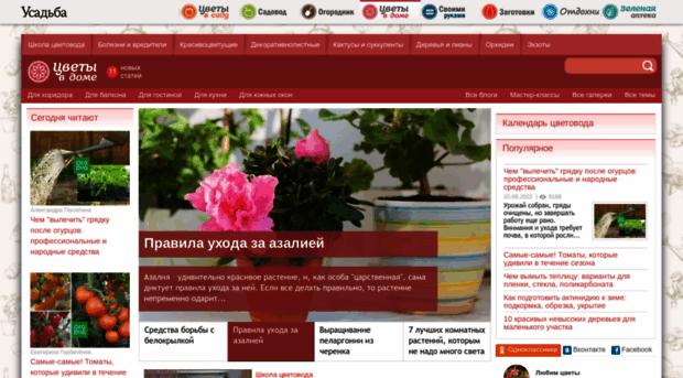 Цветы в доме усадьба