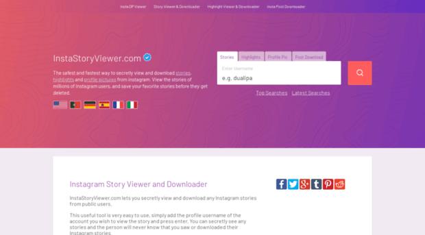 instastoryviewer com - Instagram Story Viewer and Dow    - Insta