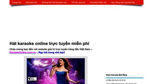 karaokeonline.com.vn - Karaoke online, hát karaoke tr... - Karaoke Online