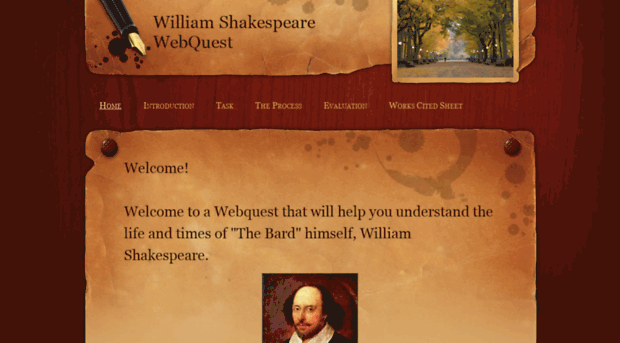 shakespeare webquest Shakespeare webquest today, we will be learning about william shakespeare and his contributions to the english language throughout the next couple of classes, you will need to complete all five stations.