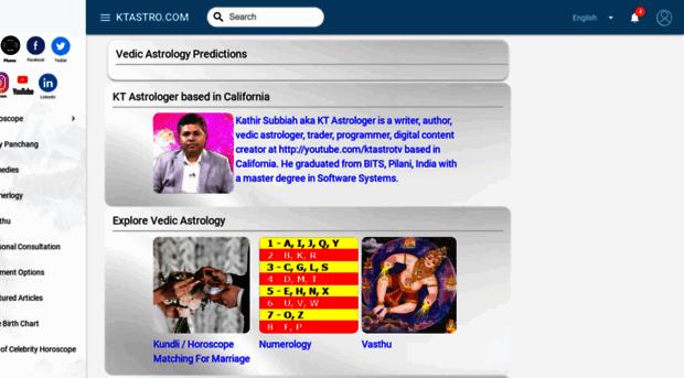 ktastro com - Vedic Astrology Horoscope by K    - KTAstro