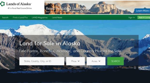 landsofalaska.com