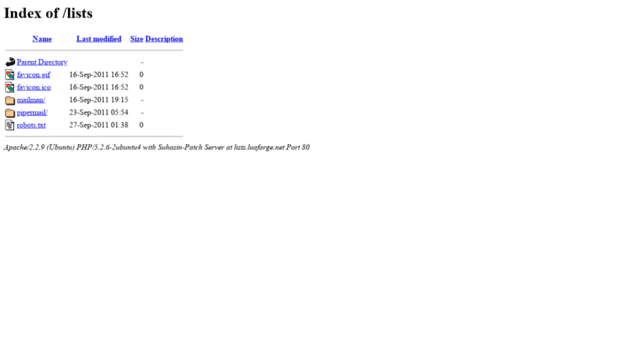lists.luaforge.net