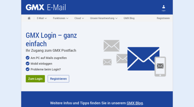 Mein gmx postfach login GMX Login
