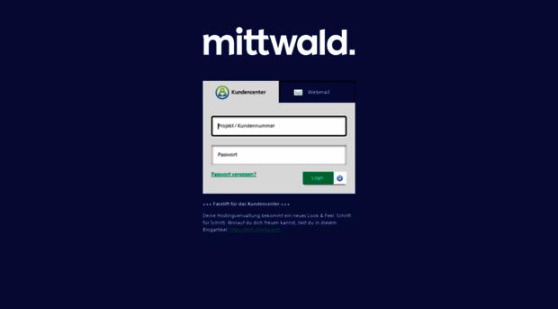 Mittwald Login