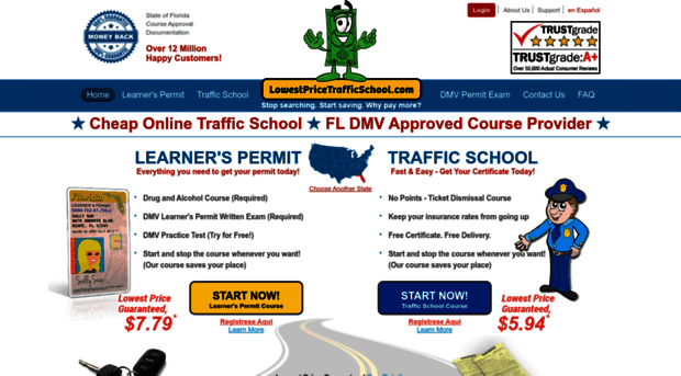 Florida Learners Permit >> lowestpricetrafficschool.com - Lowest Price Traffic School | ... - Lowest Price Traffic School