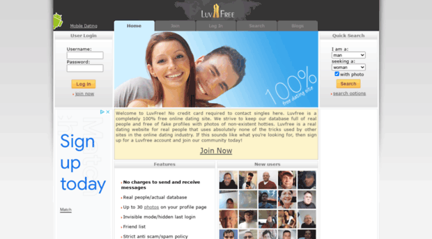 Comfree dating service