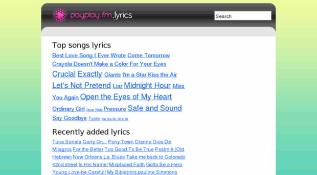 lyrics.payplay.fm