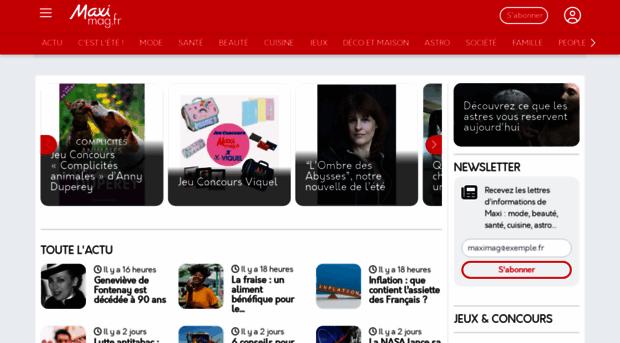Maxi Mag Fr Maximag Fr Votre Magazine Fe Maxi Mag