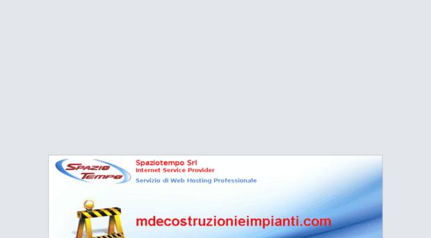 mdecostruzionieimpianti.com