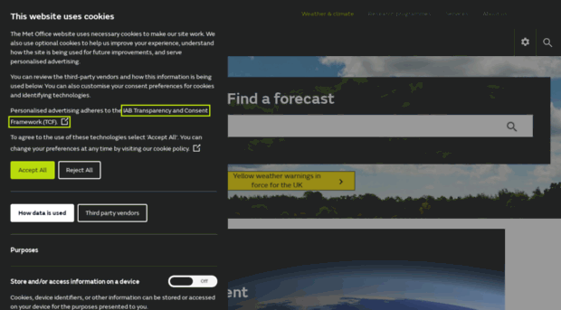 Weather and climate change  Met Office
