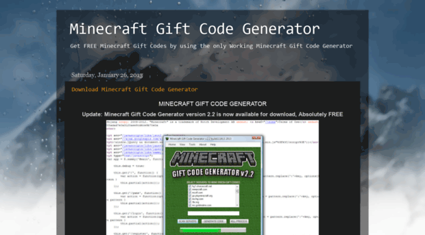 Images of Minecraft Gift Code Generator - #rock-cafe